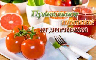 Правильное питание по диетологу — меню на каждый день