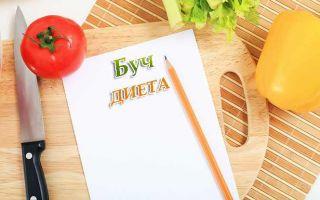 Подробное описание эффективной буч диеты