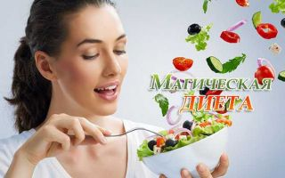 Меню, отзывы и подробности волшебной магической диеты
