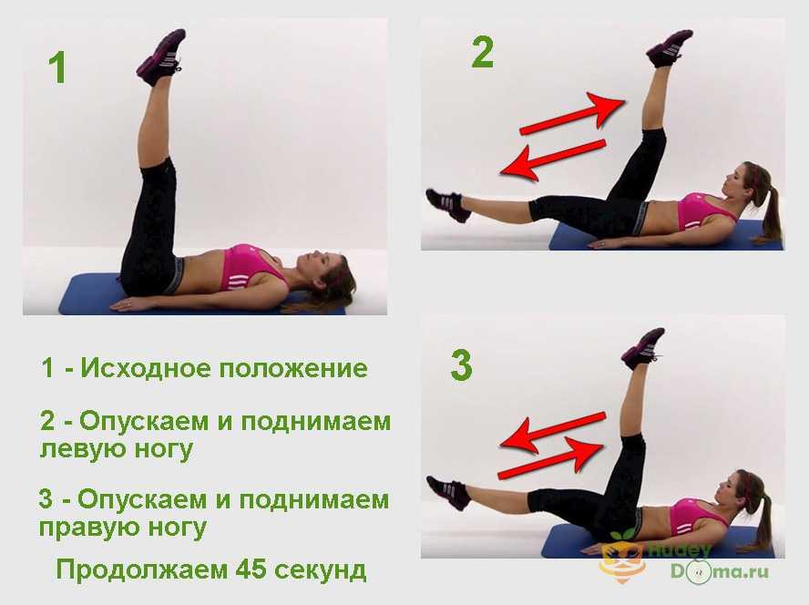 Фото 1: первое упражнения для похудения живота и боков