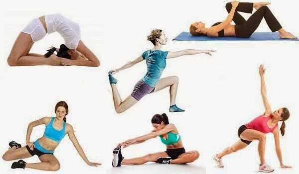 Основные упражнения на растяжку