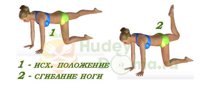 Энергичное сгибание ног для быстрого похудения