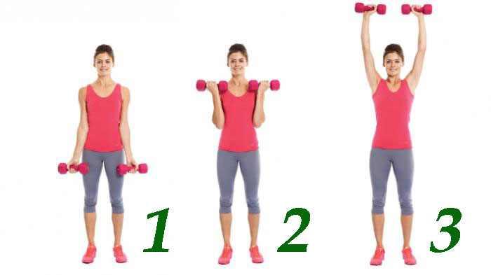 Первое упражнение для похудения рук