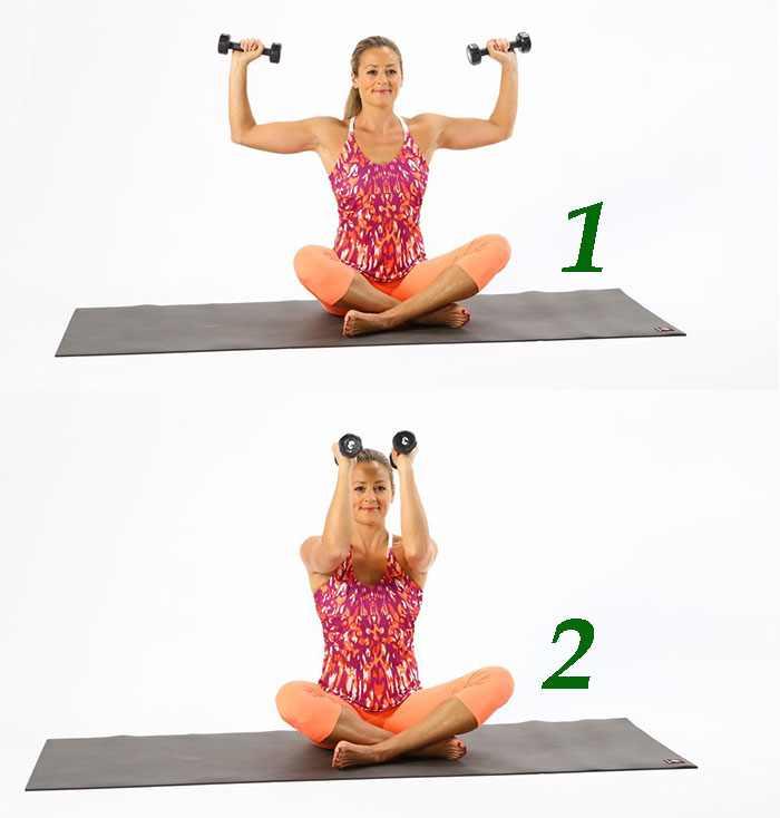 Разведение гантелей для похудения плеч
