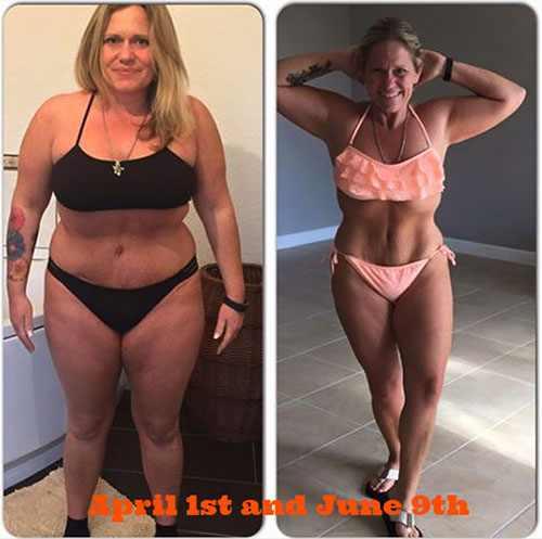 На фото до и после похудения на арбузной диете