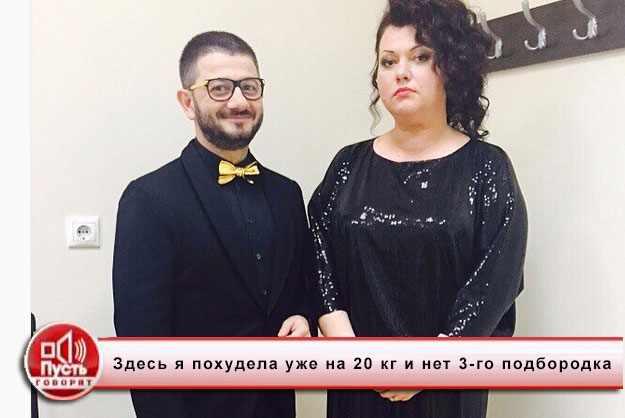 На фото похудевшая Ольга на передаче Пусть Говорят